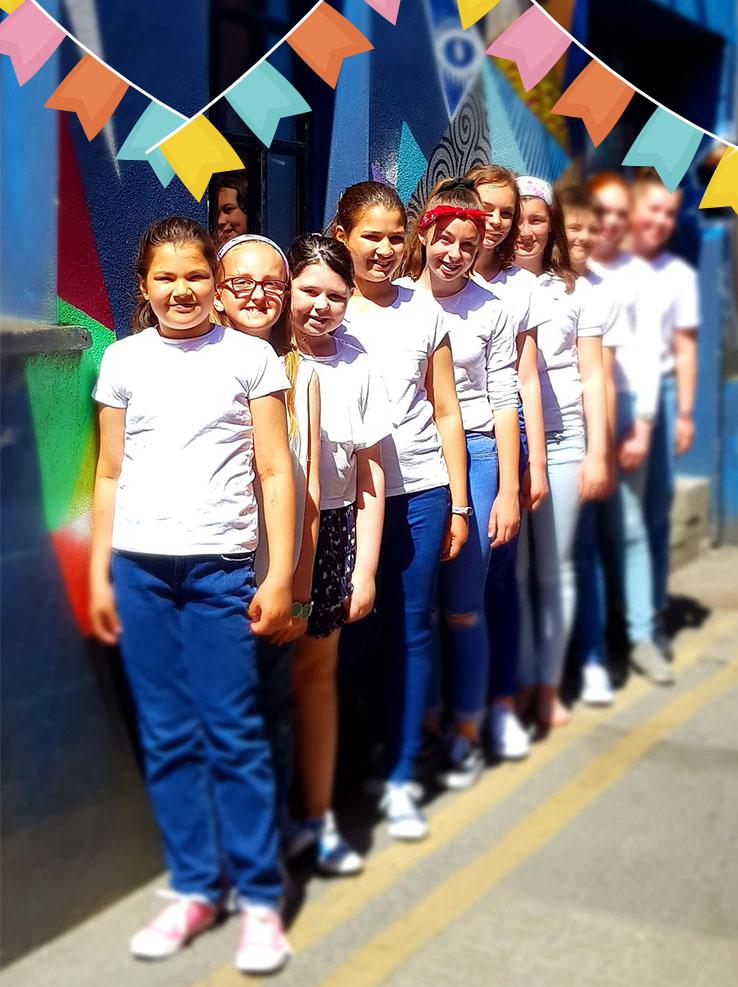 Children choir in Galway